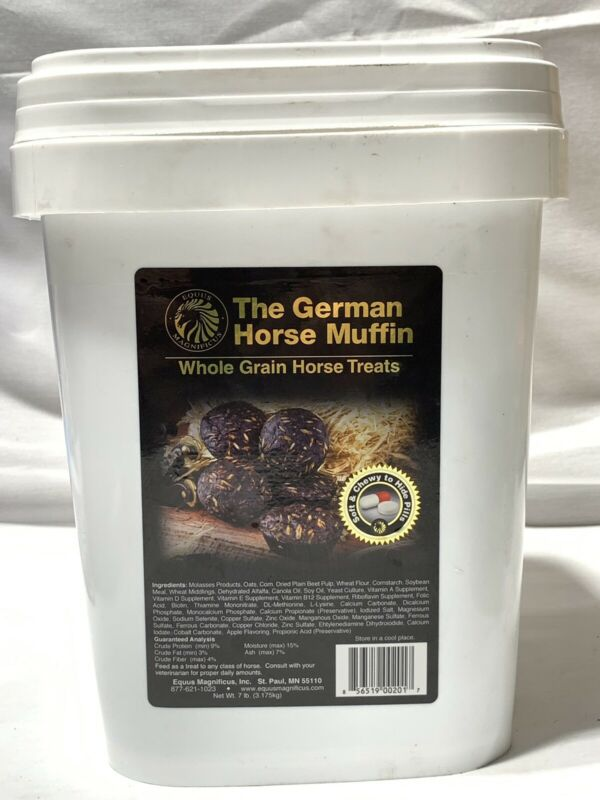 Equus German Horse Muffin Horse Treat ~ 7 Lbs Bucket