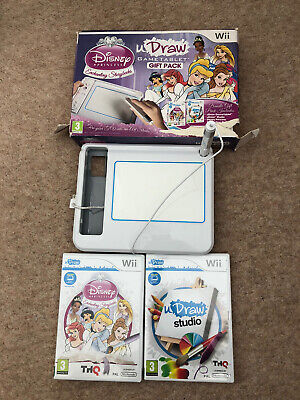 Wii U Draw Tablet Studio and 2 Games