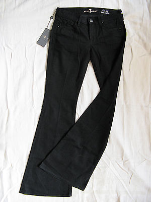 7 SEVEN for all MANkiND Damen Jeans Stretch Denim W24/L34 low waist flare leg Seven For All Mankind Flare Jeans