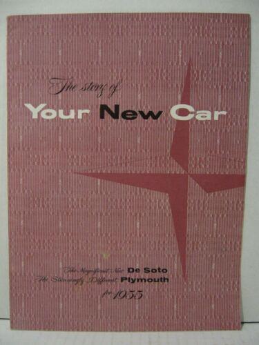1955 De Soto Plymouth Fireflite Belvedere Adventurer Car Dealer Brochure Catalog
