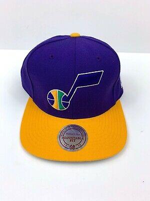 Utah Jazz Cap Official NBA Classic Logo Hat Snapback Vintage Mitchell & Ness ()