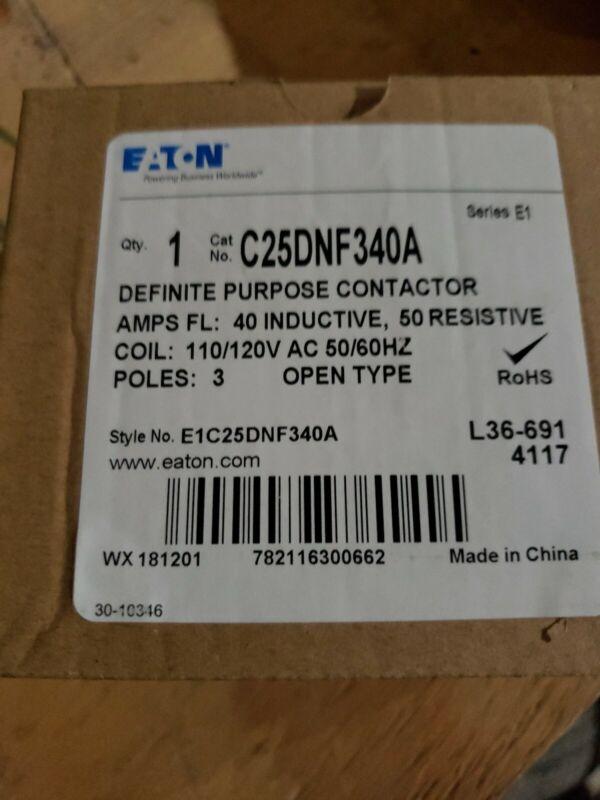 Eaton Definite Purpose Contactor 3 Pole 40A 120-Volt C25DNF340A