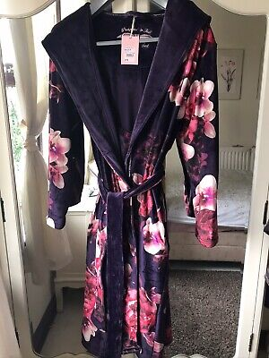 New Ted Baker Splendour Long Soft Dressing Gown Robe Size UK 8-10