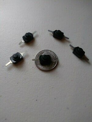 5x Dc 30v 1a Black Latching On Off Mini Torch Push Button Self-locking Switch B5