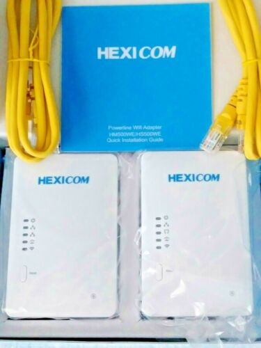 HEXICOM AV500 Mbps Powerline Adapter Ethernet Kit 4K IPTV Connect Household Kit