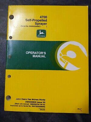 John Deere 4700 Self-propelled Sprayer Operators Manual