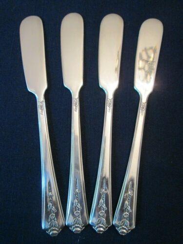 SET 4 BUTTER KNIVES! Vintage HOLMES & EDWARDS INT