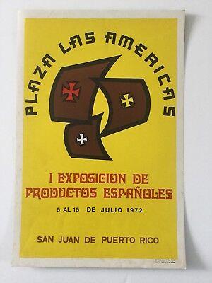Vintage Plaza Las Americas Mall Poster 1972, Cartel, Puerto Rico (Mall Las Americas)