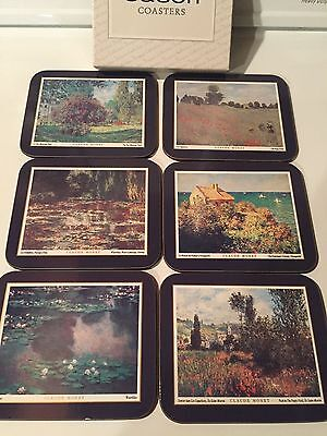 Claude Monet Paintings Coasters-6 never used in box