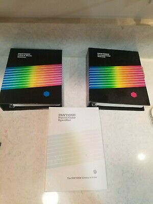 Pantone 3 Book Lot Color And Black Selector 2nd Ed Process Color Pastel Color