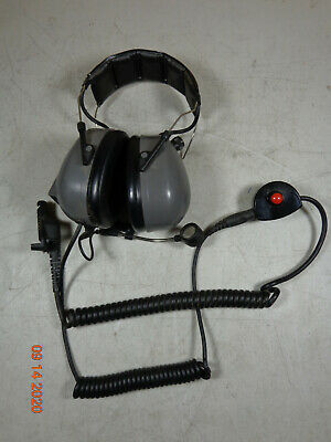 Motorola Xts5000 Vhf Uhf Xts3000 Radio Headset W Ptt Peltor 12v Tactical 7-5h