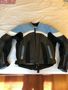 Women's fully armored leather Teknic racing jacket