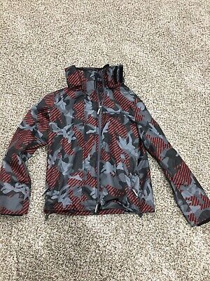Mens Superdry Arctic Hooded Print Pop Zip SD-Windcheater Camo  Mint Condition
