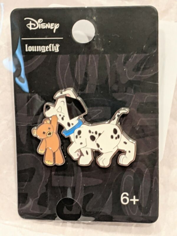 Disney Loungefly 101 Dalmatians Lucky Puppy & Teddy Bear Pin New in Package