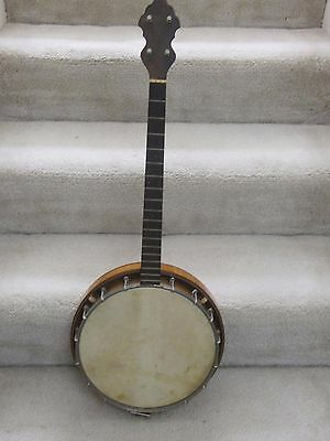 Weymann model 135 vintage tenor banjo-original case, 1920's, maple