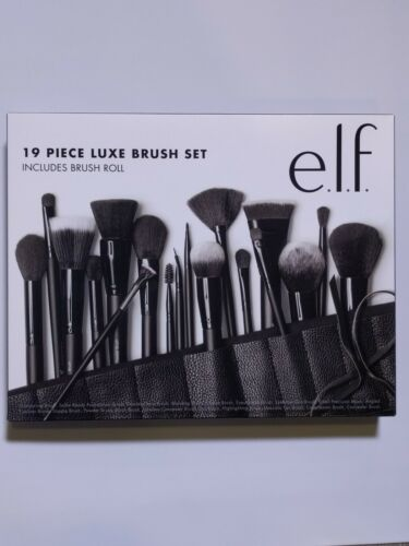 e.l.f Cosmetics 19 Piece Luxe Brush Set. For Face, Eyes & Li