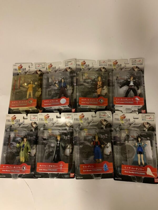 All Final Fantasy VIII (8) Action Figures in boxes