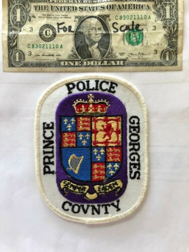 Prince Georges County Maryland Police Patch un-sewn in great shape