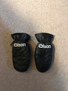 Leather Olson Curling Mitts