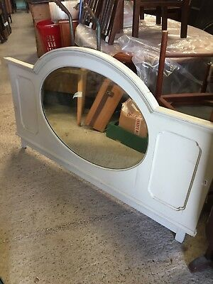 Vintage Huge  Large Mirror Painted  From A Sideboard  12/11/A
