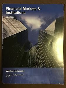 MOS 3313 Financial Markets & Institutions