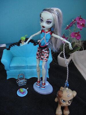 ✿● Mattel Monster High : Frankie Sound Light Alive mit Wazit Hund K9 7 (Monster High Hund)