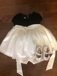 Girls size 24 months Christmas dress and shoes