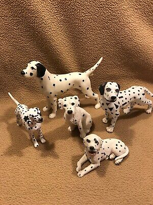 Dalmatian Dog Figurines  lot of 5 - stone critters, porcelain, plastic  ](Plastic Dog Figurines)