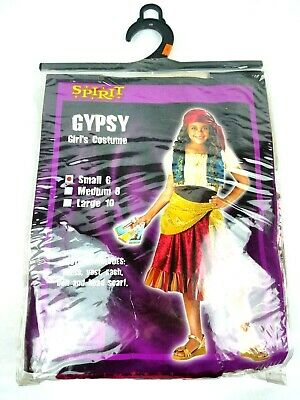 Spirit Gypsy Girl Halloween Costume Size Small 6 - - Gypsy Girl Kostüm Halloween