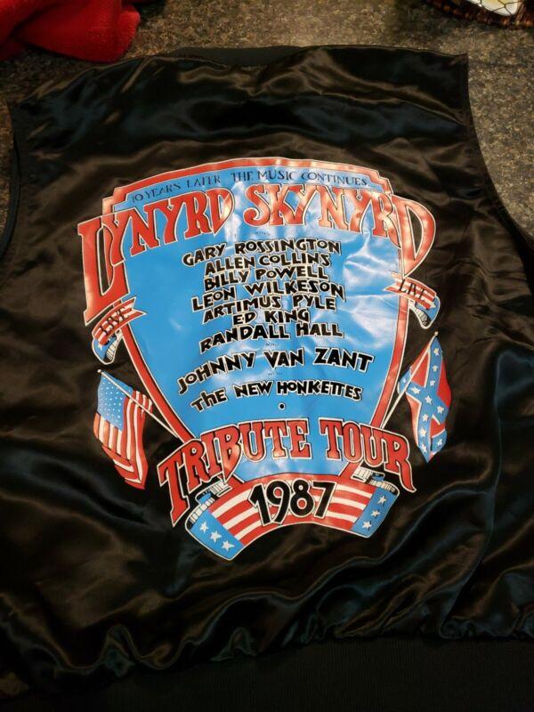 Lynyrd Skynyrd 10 Year Tribute Tour Vest 1987