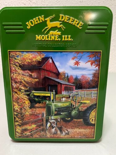 """JOHN DEERE """"Deere Family"""" 1000-pc Jigsaw Puzzle in Collectible Tin Complete"""
