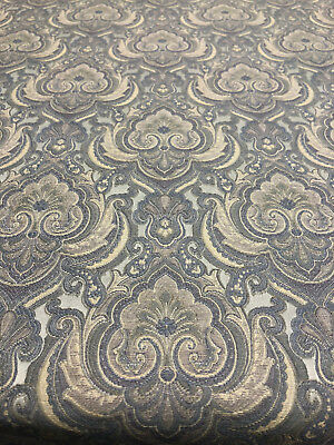 Ritz Natural Damask Italian Cut Upholstery Fabric by the -