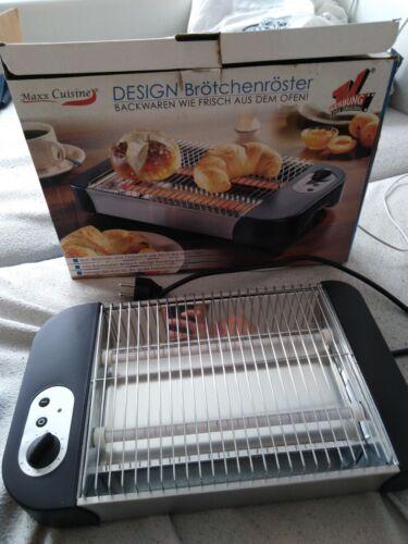 Schwarzer Flach-Toaster Melissa 16140136 Brötchen-Röster mit Timer 600 Watt