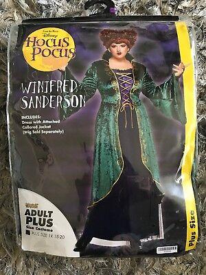 Disney HOCUS POCUS Costume Winifred Sanderson Plus Size 1X 18 20 Renaissance NEW - Disney Costumes Plus Size