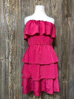 Lily Rose Juniors Fuschia Pink Medium M Tiered Tube Halter Dress NWT Fuschia Juniors Dress