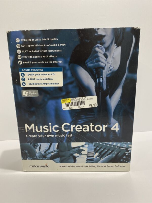 Cakewalk Music Creator 4 With Pro tools 7 100% Complete!  Fast Free Shipping!