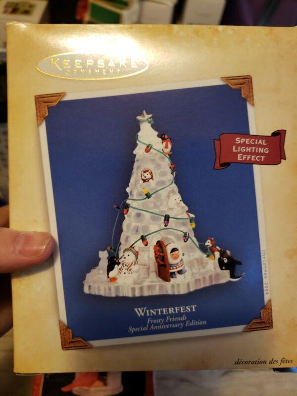 2004 Hallmark Frosty Friends 25th Anniversary Winterfest Ornament NIB NEW DB BOX