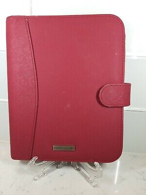 Day Runner Organizer Red Planner Binder Only 7 Ring Classic Harmony Snap Floral