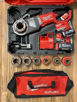 Milwaukee 2874-22hd M18 Fuel Pipe Threader Kit With Complete Die Set
