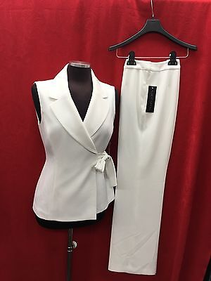 """Albert Nipon PANT SUIT/NEW WITH TAG/RETAIL$280/SIZE 10/INSEAM 32""""/OFF WHITE"""