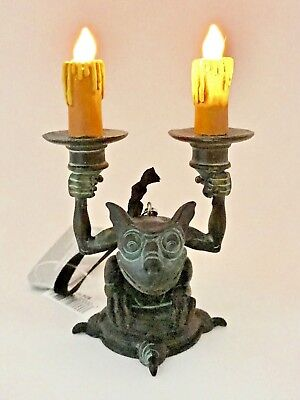 Disney Parks Disneyland Haunted Mansion Gargoyle Light Up Candlestick Ornament