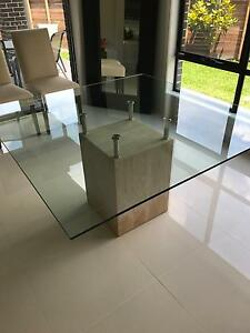 Glass Dining Table Coburg North Moreland Area Preview