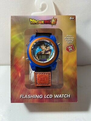 Dragon Ball Z Boy's Digital Light Up Watch Collectible Quick Adjustable Band Kid