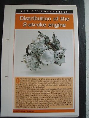 engine & mechanics DISTRIBUTION OF THE 2-STROKE ENGINE collector fact sheet.