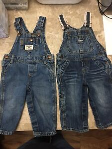Oshkosh overalls 2 pairs - 9 months - excellent condition.
