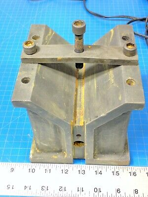 Heavy Duty V-block 6x 6x 6 Inch Cast Workholding Clamp Vee