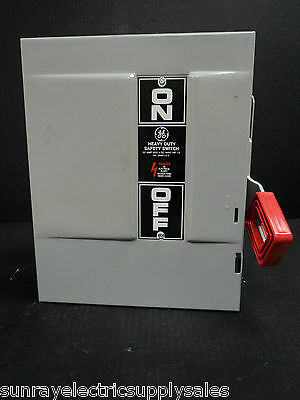 Ge Industrial Thn2261dc 30a 600vac250vdc 2p Nf Heavy Duty Safety Switch  New