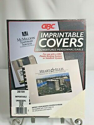 Gbc Imprintable Covers Cream 25 Sets Velobind New Sealed Package