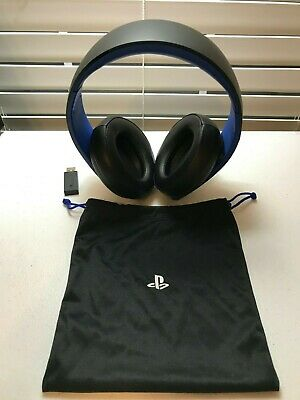 USED Sony PlayStation PS4 PS3 Gold Wireless Stereo Headset - BLACK BLUE