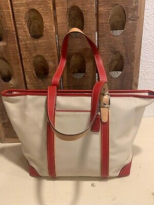 46f2a0a3e04c COACH LARGE LEATHER HAMPTONS CARRYALL HANDBAG PURSE